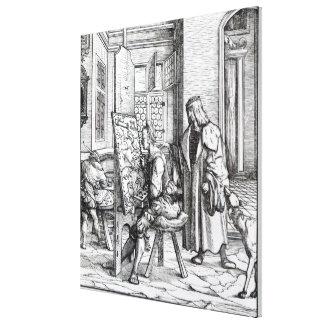 The Emperor in the Artist's Studio Canvas Print