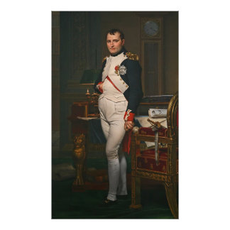 The Emperor Napoleon in His Study at the Tuilerie Poster