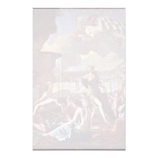 The Empire Of Flora By Poussin Nicolas Custom Stationery