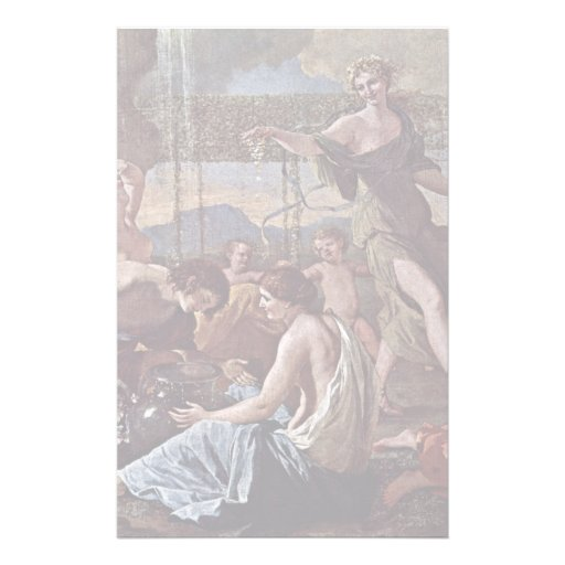 The Empire Of Flora Detail By Poussin Nicolas Custom Stationery