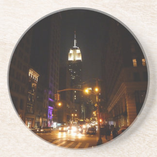The Empire State Building at Night Drink Coaster