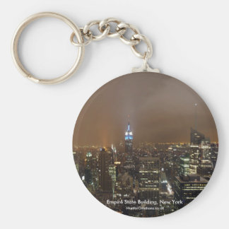 The Empire State Building, New York Basic Round Button Key Ring
