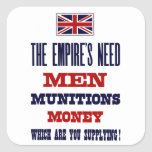 The Empire's Need ~ Men, Munitions and Money Stickers