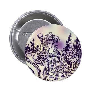 The Empress Tarot Card Button
