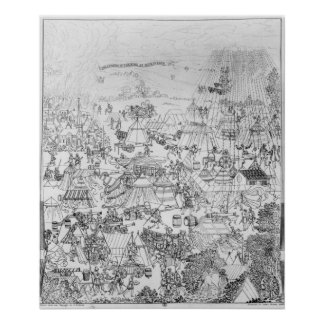 The Encampment of King Henry VIII at Marquison Poster