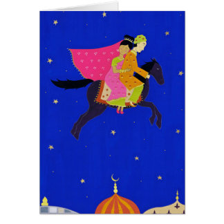 'The Enchanted Horse' greeting card