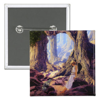 The Enchanted Prince- Maxfield Parrish 15 Cm Square Badge