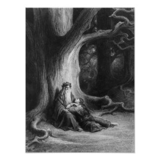 The Enchanter Merlin and the Fairy Vivien Poster
