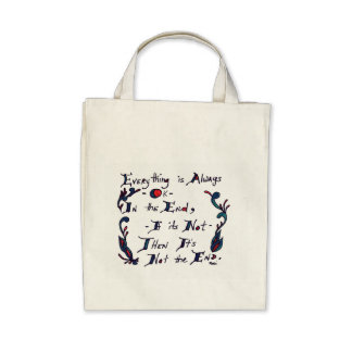 The End Grocery Tote Bags