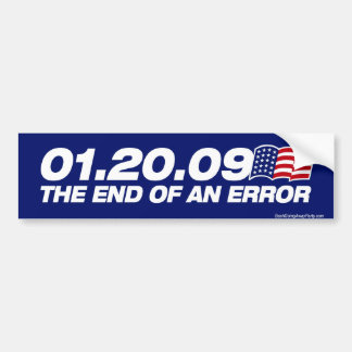The End of an Error Bumper Sticker