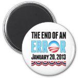 The End of An Error January 20, 2013 Obama Fridge Magnet