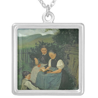 The End of the Day, 1868 Silver Plated Necklace