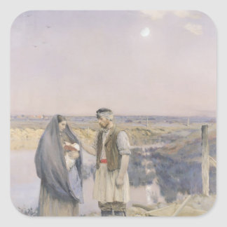 The End of the Day, 1888 Sticker