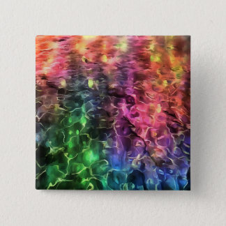 The End of The Rainbow Abstract 15 Cm Square Badge
