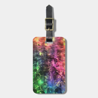 The End of The Rainbow Abstract Bag Tag