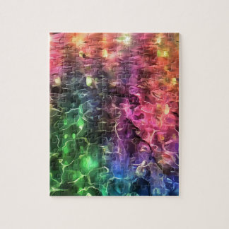 The End Of The Rainbow Abstract Jigsaw Puzzle