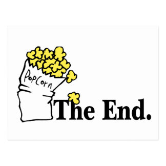 The End (Popcorn) Postcard