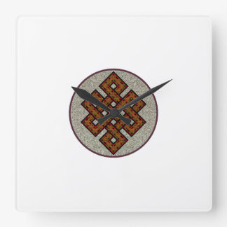 The Endless Knot Square Wall Clock