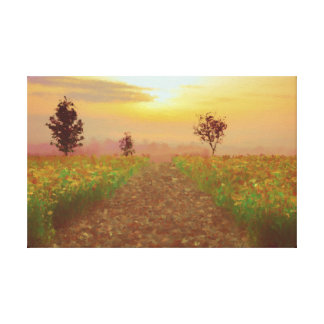 The endless road digitally handpainted canvas print