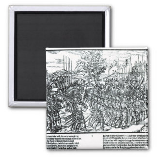 The English Army Marching with Sir Henry Sidney Square Magnet
