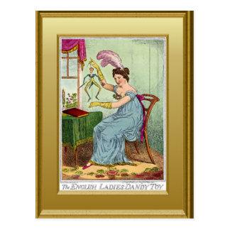 The English lady Dandy toy Postcard