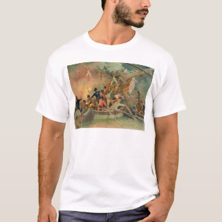 The English navy conquering a French ship T-Shirt