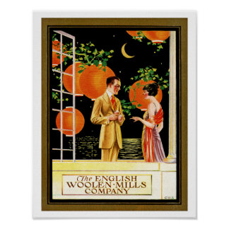 The English Woolen Mills Company Poster