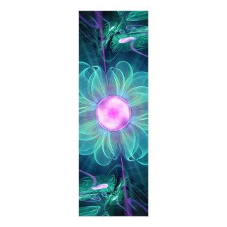 The Enigma Bloom, an Aqua-Violet Fractal Flower Photo Print