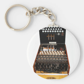 The enigma machine, vintage military messaging key ring