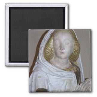 The Entombment, detail of a female saint, 1490 (pa Square Magnet