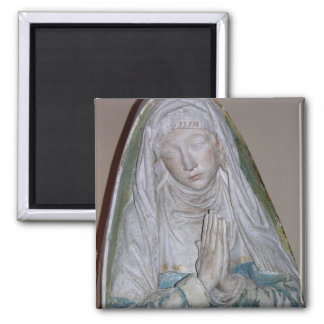 The Entombment, detail of a female saint praying, Square Magnet