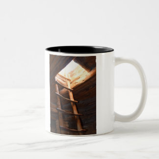 The entrance door to the sanctuary is inside you. Two-Tone coffee mug