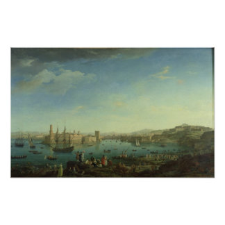 The Entrance to the Port of Marseilles, 1754 Poster
