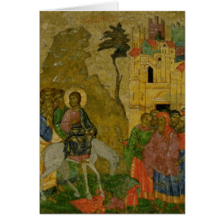 The Entry into Jerusalem, Russian icon Card
