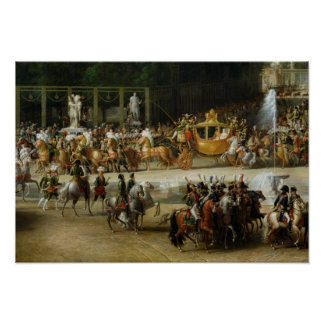 The Entry of Napoleon  and Marie-Louise Poster