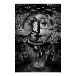 The Ephidream Paradox Dark Fantasy Collage Poster