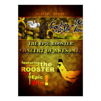 The Epic Roosters' Concert Poster