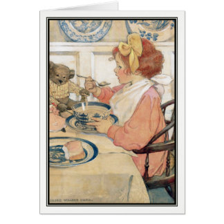 The Epicure by Jessie Willcox Smith Greeting Card