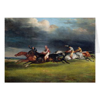 The Epsom Derby, 1821 Card