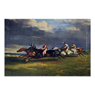 The Epsom Derby By Géricault Jean Louis Théodore ( Poster