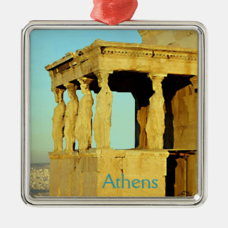 The Erechtheion Square Metal Christmas Ornament