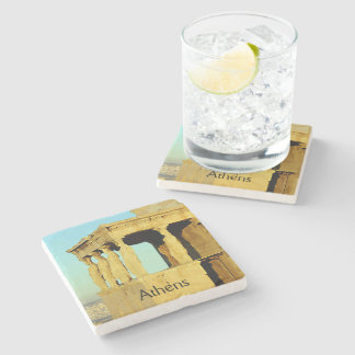 The Erechtheion Stone Beverage Coaster