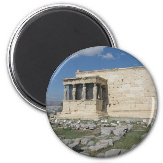 The Erecthion is part of ancient Greek Acropolis 6 Cm Round Magnet
