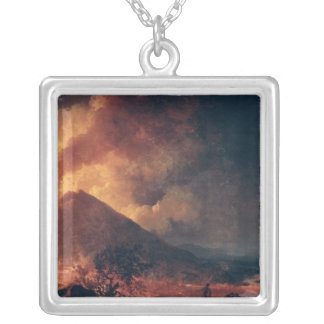 The Eruption of Mount Vesuvius in 1771 Silver Plated Necklace