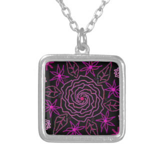 The Essence of Rose Silver Plated Necklace