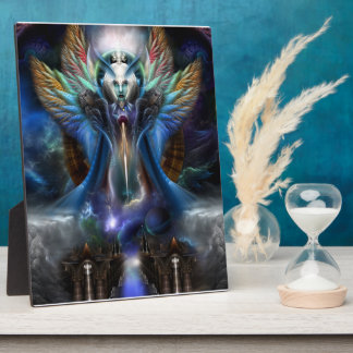 The Eternal Majesty Of Thera Fractal Portrait Plaque