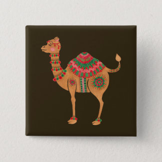 The Ethnic Camel 15 Cm Square Badge