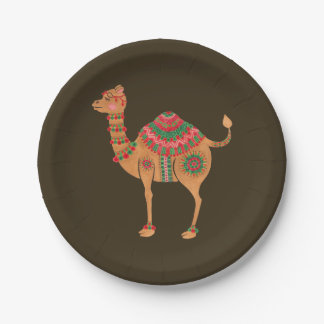The Ethnic Camel Paper Plate