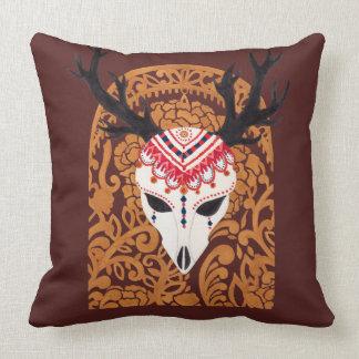 The Ethnic Deer Head Throw Pillow