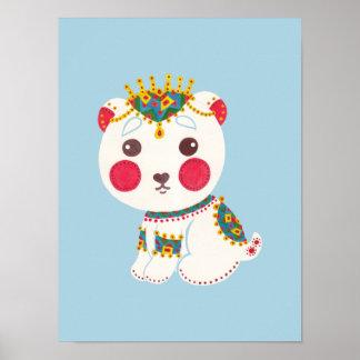 The Ethnic Polar Bear Poster